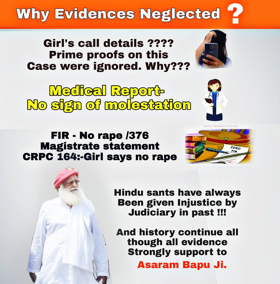 D #HugeSupportForAsaramBapuji is a proof of his innocence!  Though #EvidencesSupportingBapuji r neglected completely from past 5yrs still the faith of crores of VIGILANT HINDUS are intact & voice for #Justice4Bapuji z increasing day by day is compelling d world to #KnowTheTruth !<br>http://pic.twitter.com/PlEWFeYs74
