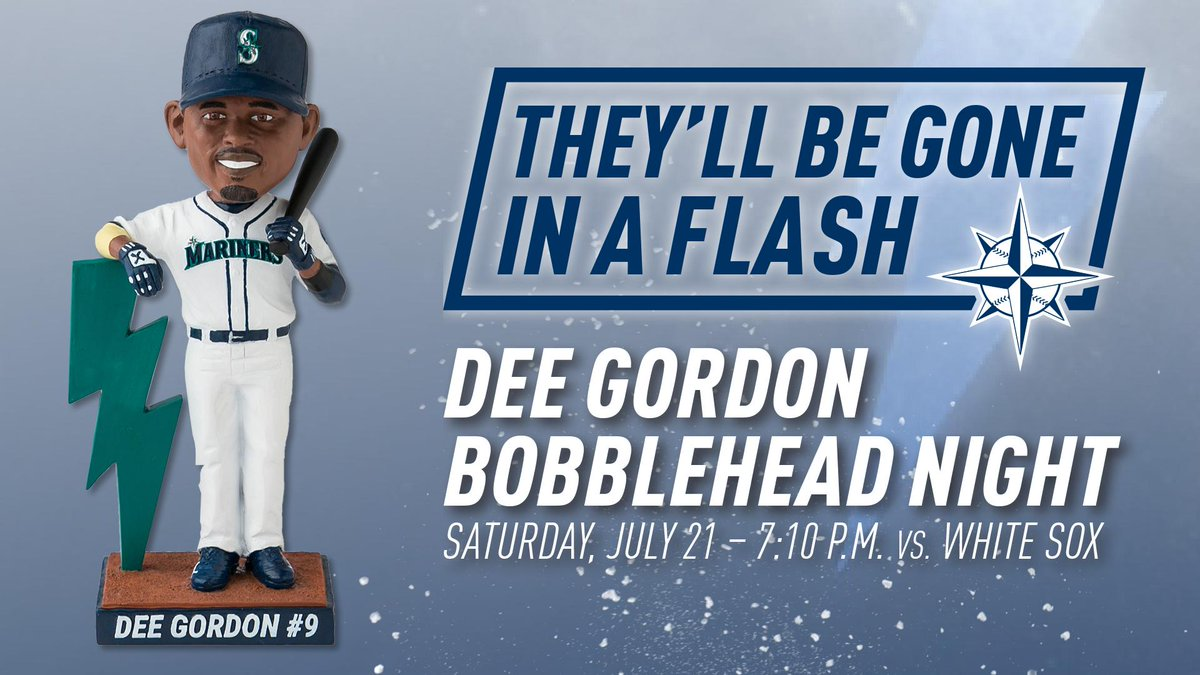 A Dee-lightful giveaway.   Don't miss Dee Gordon Bobblehead Night, set for July 21st at Safeco Field. https://t.co/AlMKMhbpGD
