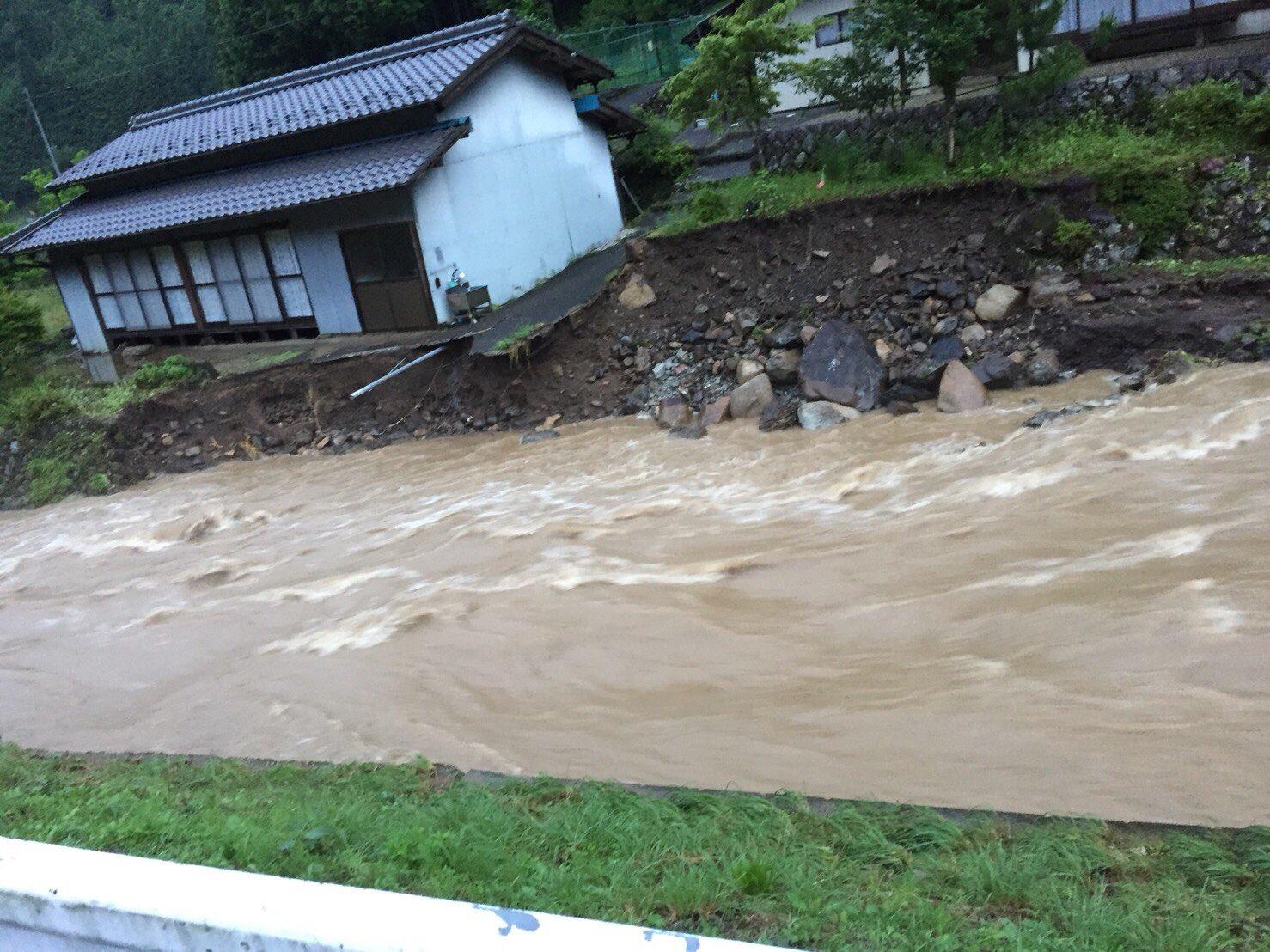 画像 : 上之保の津保川の氾濫、...