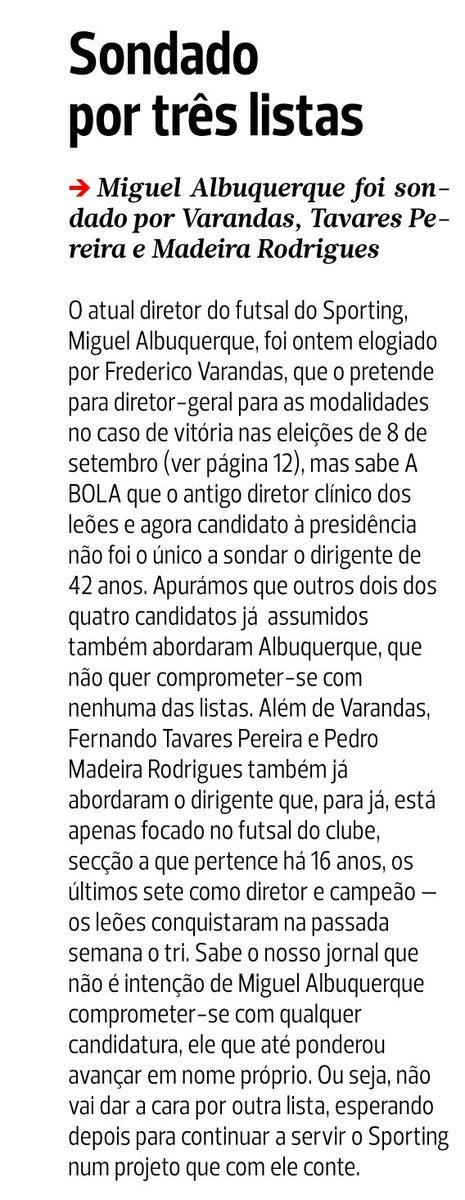 """""""Miguel Albuquerque foi sondado por Varandas, Tavares Pereira e Madeira Rodrigues (...) não vai dar a cara por outra lista"""" #AvançaAlbuquerque"""