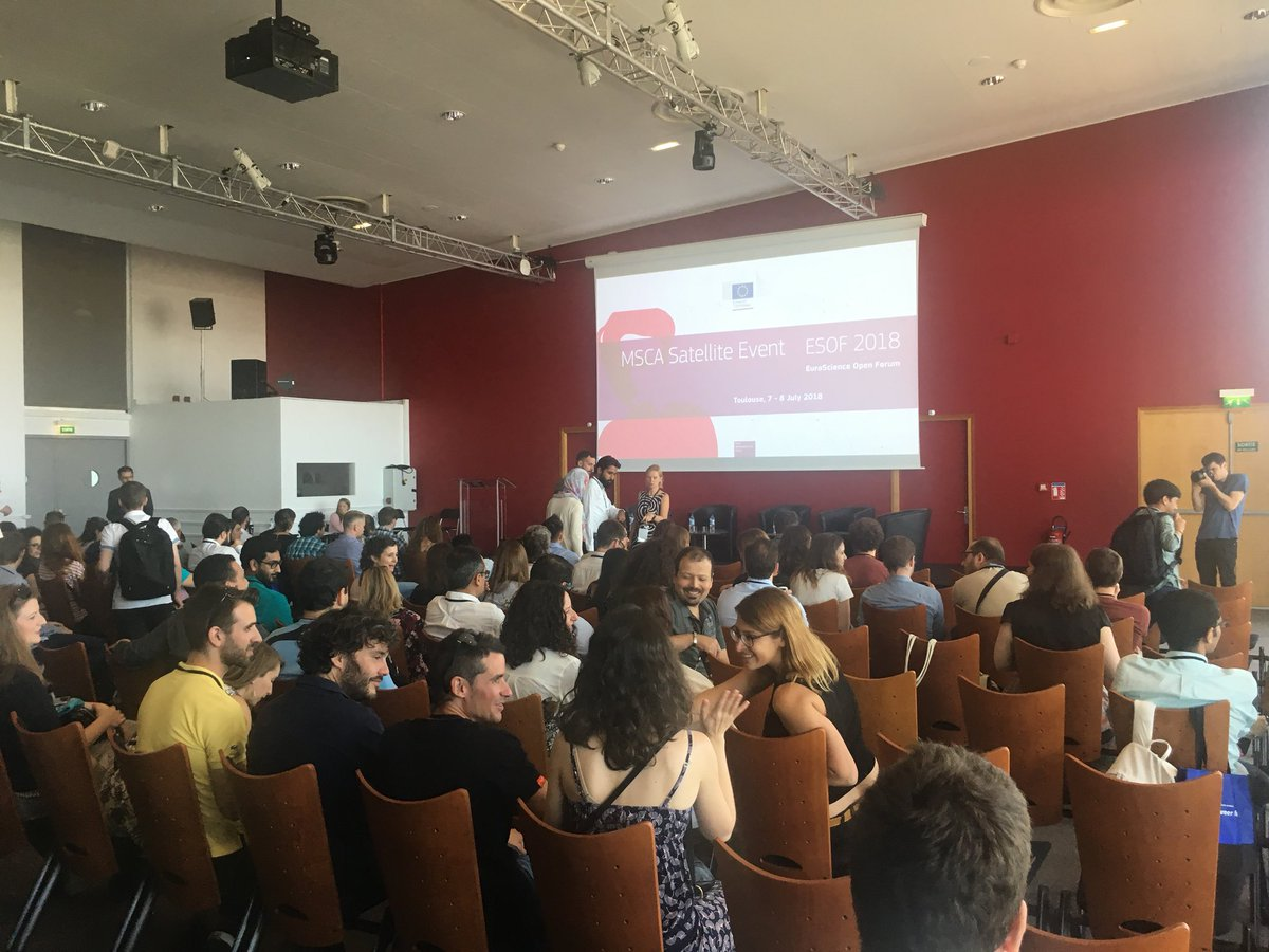 4da9614033cd6b The  MSCA Satellite Event  ESOF 2018 kicks off now with 200 of our  fantastic fellows! Looking forward to hearing insights from our speakers  and testimonials ...