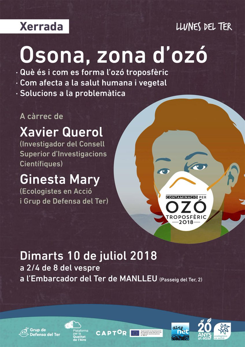 "test Twitter Media - Conference ""Osona, #ozonepollution area""  July 10 th, 19:30 h. Manlleu (Spain) with Xavier Querol (@xqcgeo) and  Ginesta Mary (@ecologistas) # #captorproject . More information: https://t.co/84gkTDjTEQ https://t.co/mKXvbBJGsF"
