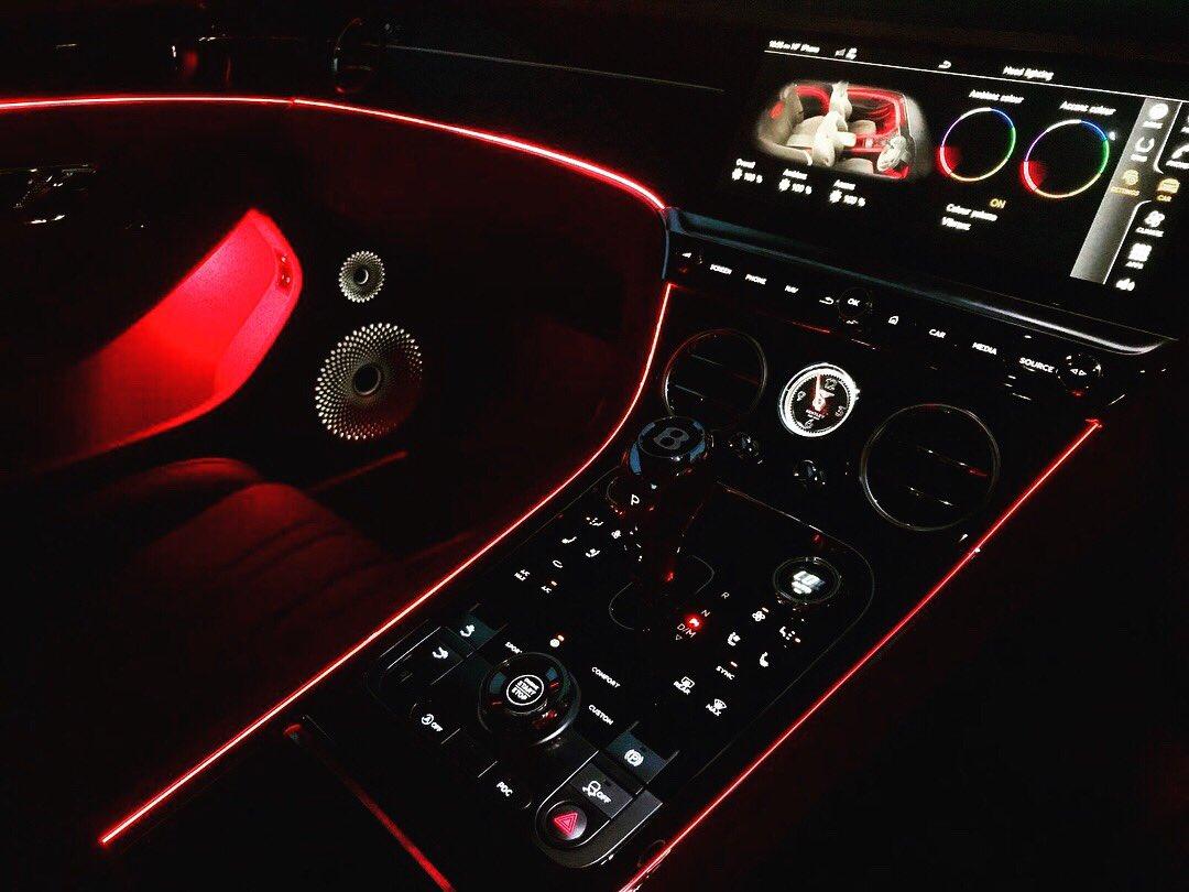 Bentley Continental Gt 2019 Interior Night Bentley Car