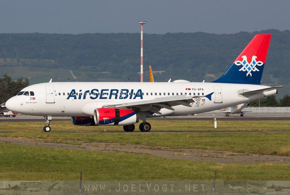Ist das ernsthaft ein #Doppeladler im Heck bei @airserbia ? 🤔 joelvogt.net/aviation/spott… #avgeek #aviation #Serbia #srbsui #BSLmovements #Basel