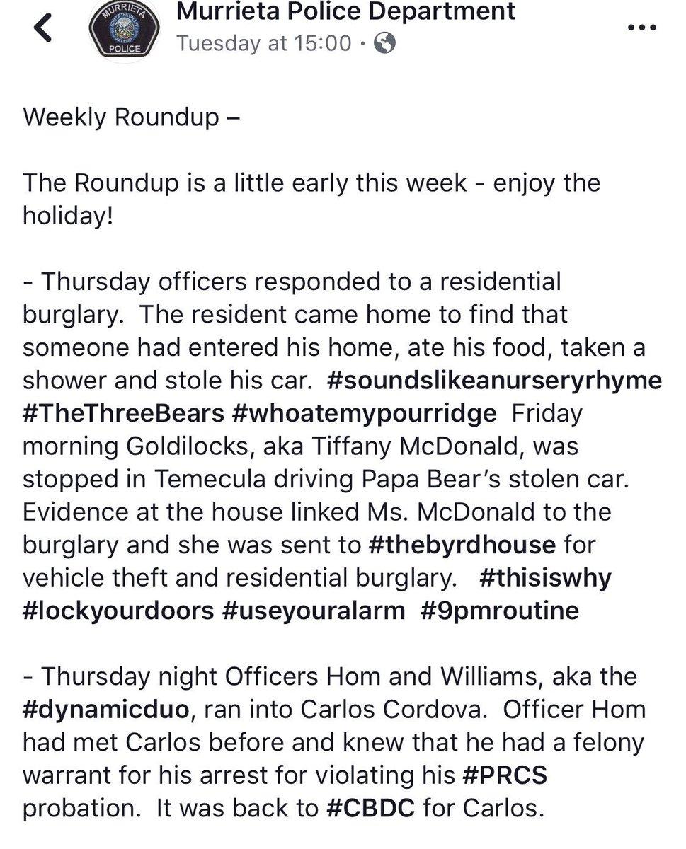 Murrieta Police Dept on Twitter: