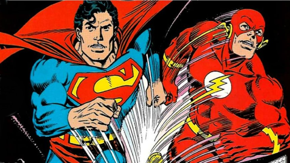 Explore the comics history of #Superman and #Flash competing in races to see who wins: https://t.co/pKIIV1nRCi https://t.co/TEVd4eMGsD