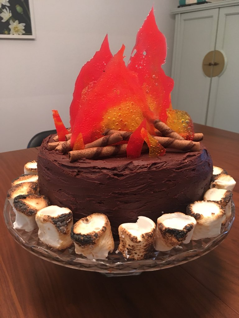 Sarah Shaughnessy On Twitter Campfire Birthday Cake For A Camping
