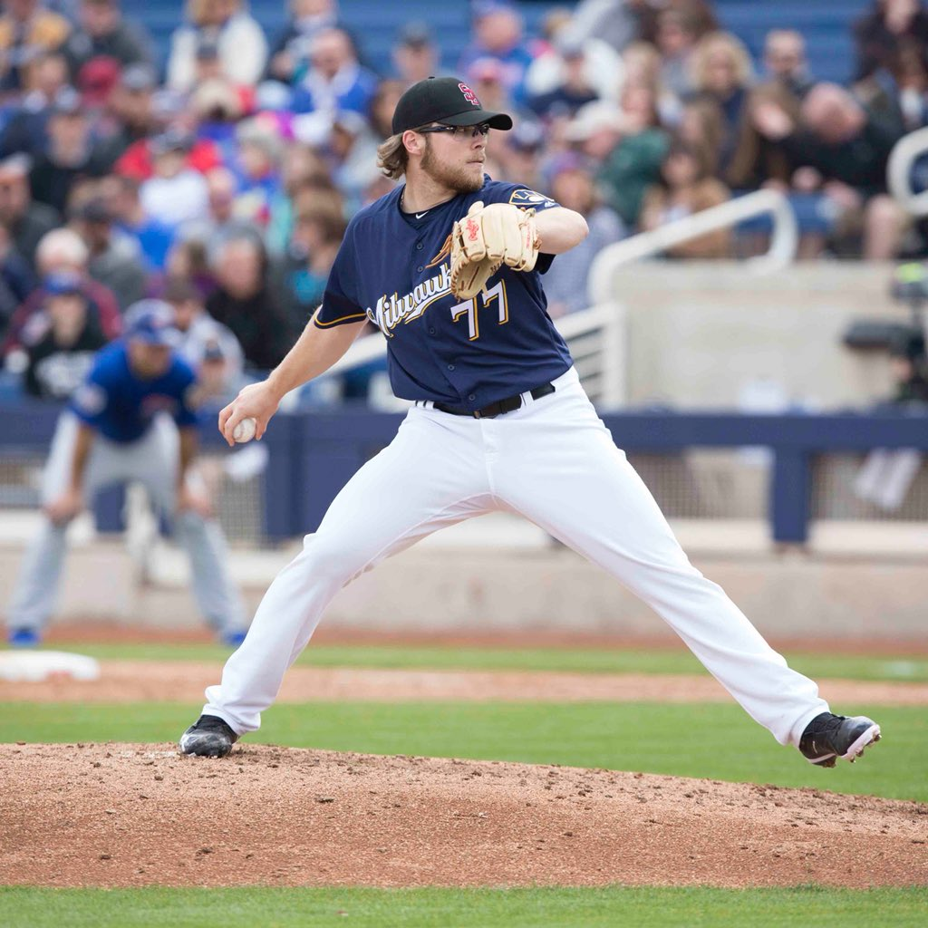 RHP Corbin Burnes has been selected from Triple-A @skysox. LHP Mike Zagurski has been designated for assignment. https://t.co/G9Fg1xtjuw