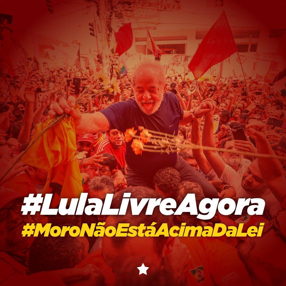 #LulaLivreAgora #MoroNãoEstáAcimaDaLei  O estado democrático de direito precisa e deve ser respeitado!