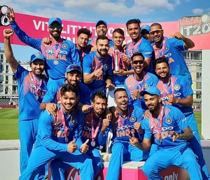 Such a great feeling to have played with such talented team mates and win the series in a great style. Time to celebrate now! 😀 #EngvInd #Champions 🇮🇳