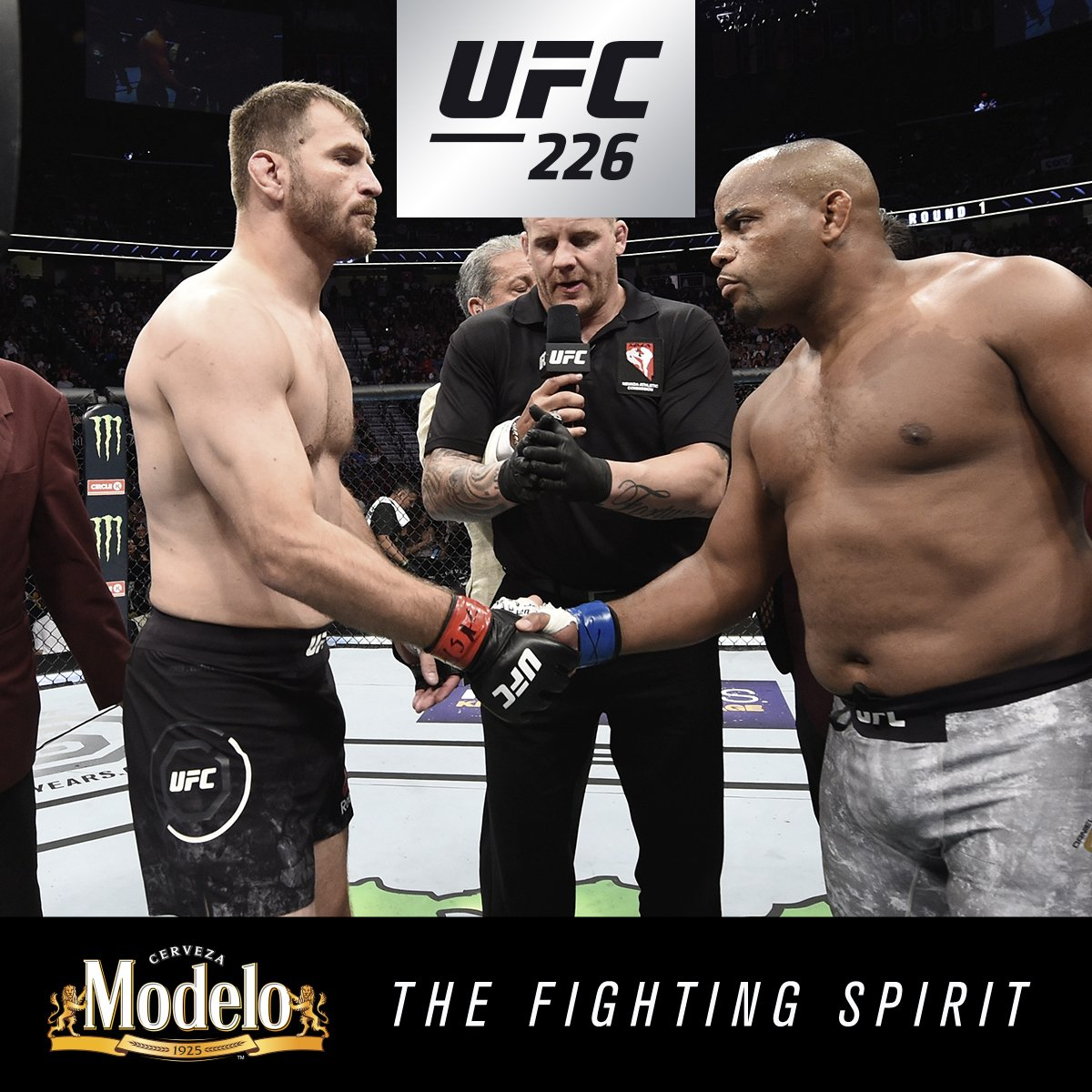 Immortality. @DC_MMAs #FightingSpirit was on display as he made history Saturday night. @ModeloUSA #UFC226