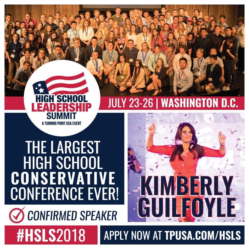 I look forward to speaking @TPUSA's High School Leadership Summit in 2 weeks. Check it out. #HSLS2018