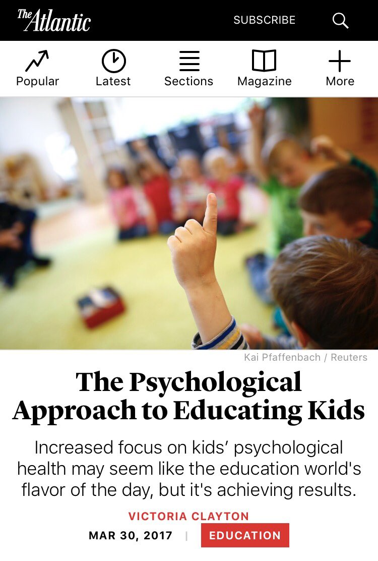 The Psychological Approach To Educating >> R Keeth Matheny On Twitter Wateachlead Q1 Social And Emotional