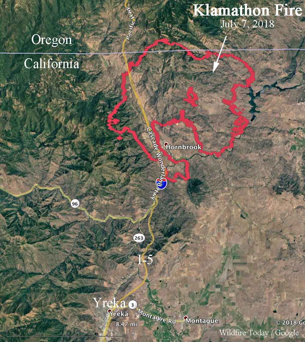 Wildfire Today On Twitter Map Of The Klamathonfire In Oregon