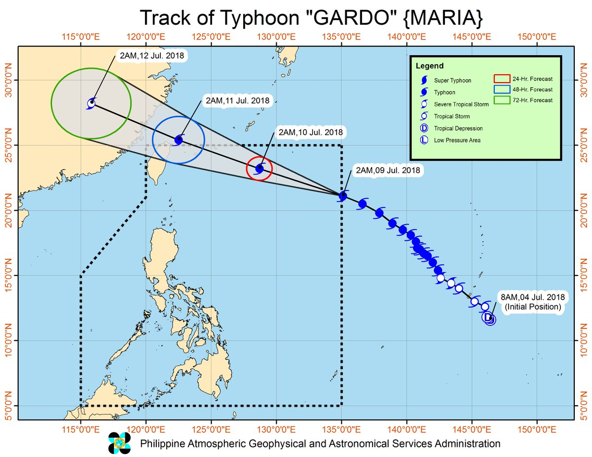 The typhoon with international name 'Maria' has entered the Philippine Area of Responsibility and was named '#GardoPH'.   https://t.co/HEIALQFrMl