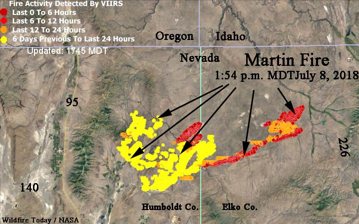 Wildfire Today On Twitter Map Showing Heat Detected On The