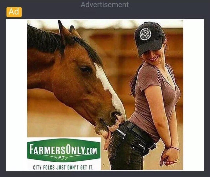 Farmer dating site ad