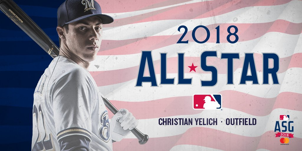 Congratulations to @ChristianYelich who was named to the National League All-Star team! #ThisIsMyCrew https://t.co/290wPs4zqI