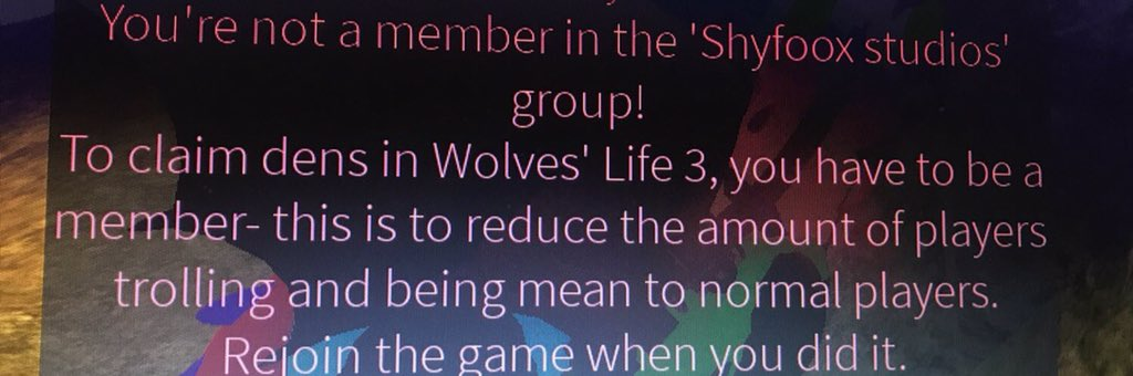 Roblox Wolves Life 3 How To Join Shyfoox Studios Group Hd - Shyfoox Hashtag On Twitter