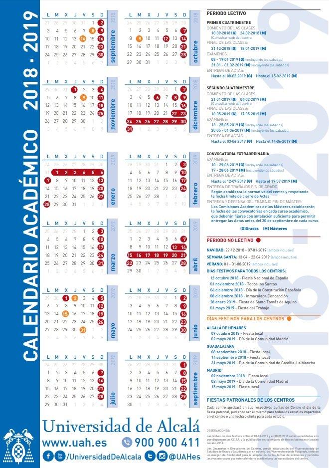 Uah Calendario Academico.Universidad Alcala On Twitter Consulta El Calendario Academico