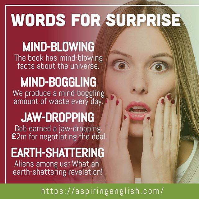 Feeling surprised? Here&#39;s how to express it... #apspiringeveryday #manchester #apsiringenglish #englishlesson #ingles #language #grammar #englishteacher #englishquotes #languages #teachersofinstagram #englishstudy #lessons #englishschool #englishtips<br>http://pic.twitter.com/K4rypOPZSj