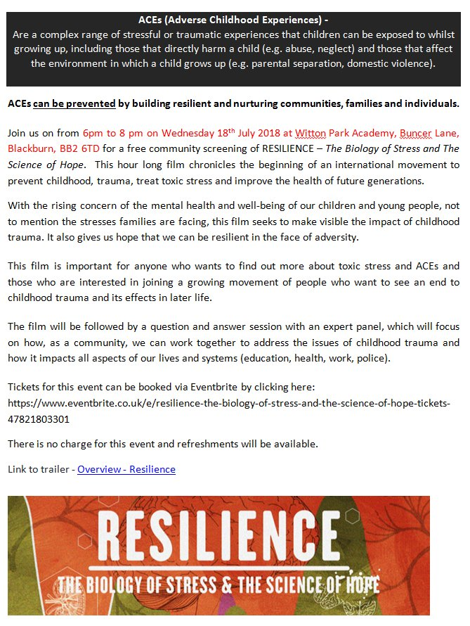 The Science Of Trauma And Its Effects >> Bwd Ccg On Twitter Free Invite To Watch Resilience The Biology