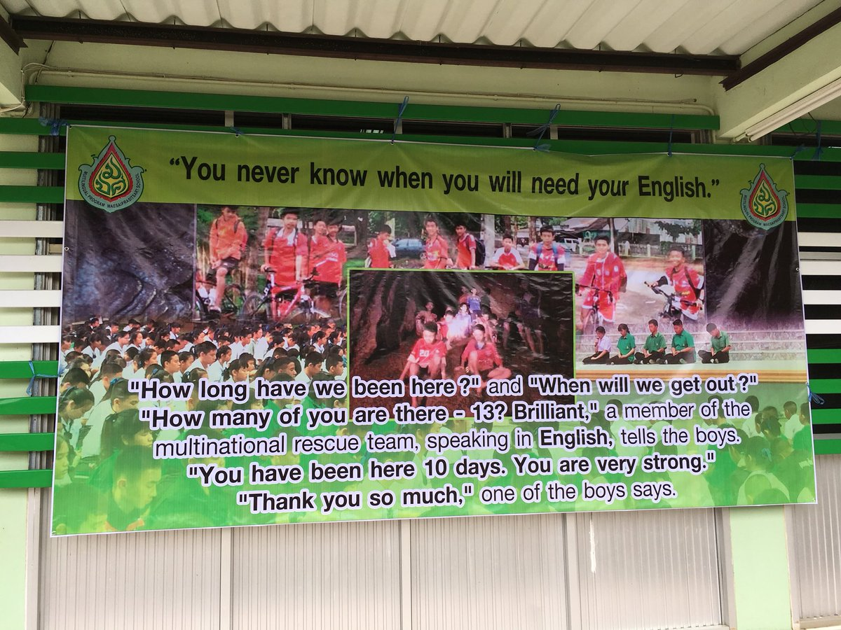 Image result for banner at the school for the boys in the cave