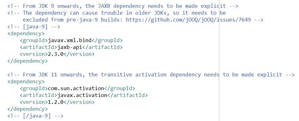 Javax Xml Bind Not Found Java 11