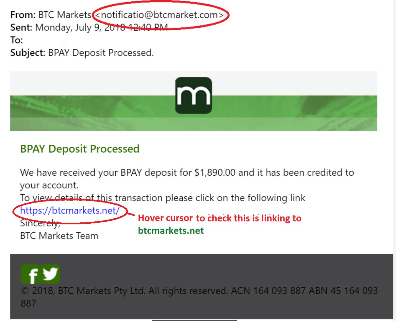 login to btc markets