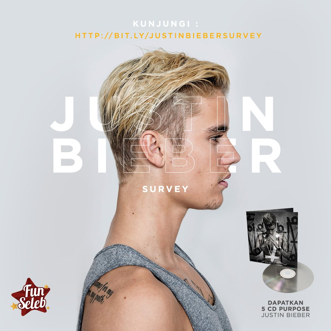 Yang mau hadiah CD Purpose @justinbieber gratis, isi Survey Justin Bieber di https://t.co/X9agBNTpL9 sekarang! https://t.co/BZaVKyyxUE