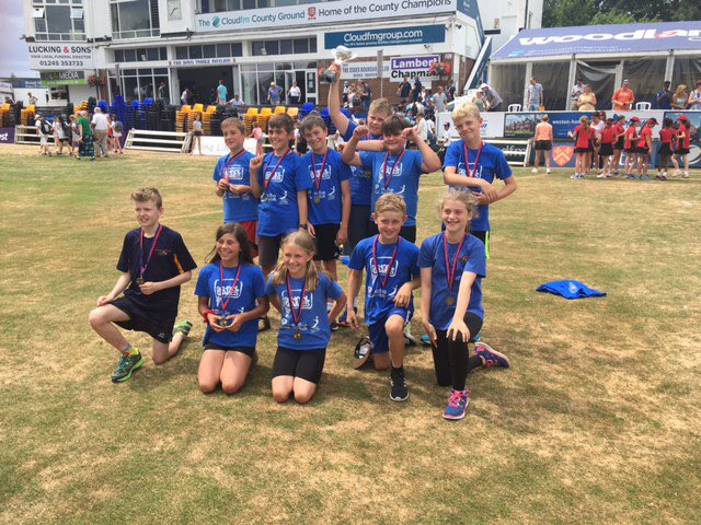 Many congratulations to Brooke Primary School who have won the East Region Y6 Kwik Cricket competition held ⁦@EssexCricket⁩ today. Fabulous effort and great to see a Norfolk school coming out on top! 🏆🏆🏆#winnersaregrinners ⁦@SouthNorfolkSSP⁩ ⁦⁦@edpsport⁩