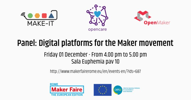 test Twitter Media - In @MakerFaireRome in 2017 we discussed the potentials of platforms for the Maker movement together with the two other Horizon 2020 CAPS projects @op3ncare and @openmaker Here's the video of the discussion!  https://t.co/HSVkFxy0xg @CAPSSIEU @EU_H2020 #researchimpactEU #makers https://t.co/EfqEDYxu5x