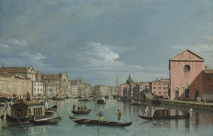 Visit the Grand Canal in this beautifully historic city. This is an early work by Bellotto and was made while working in his uncle's studio in Venice. Take the passenger barge on the left and explore the canal and Venetian architecture in Room 38: Фото