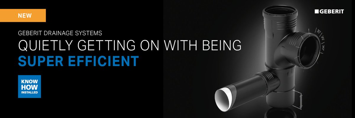✔️ Sound optimised ✔️ Easy push fit ✔️ High cold impact strength There are many good reasons to switch to Geberit Silent-PP. Find out more about our newest drainage system here: bit.ly/2HK6Ipc