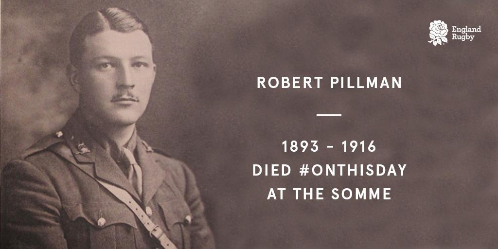 Remembering the 27 England internationals who lost their lives in #WW1. A tribute to Robert Pillman: bit.ly/2KULtFu #RugbyRemembers