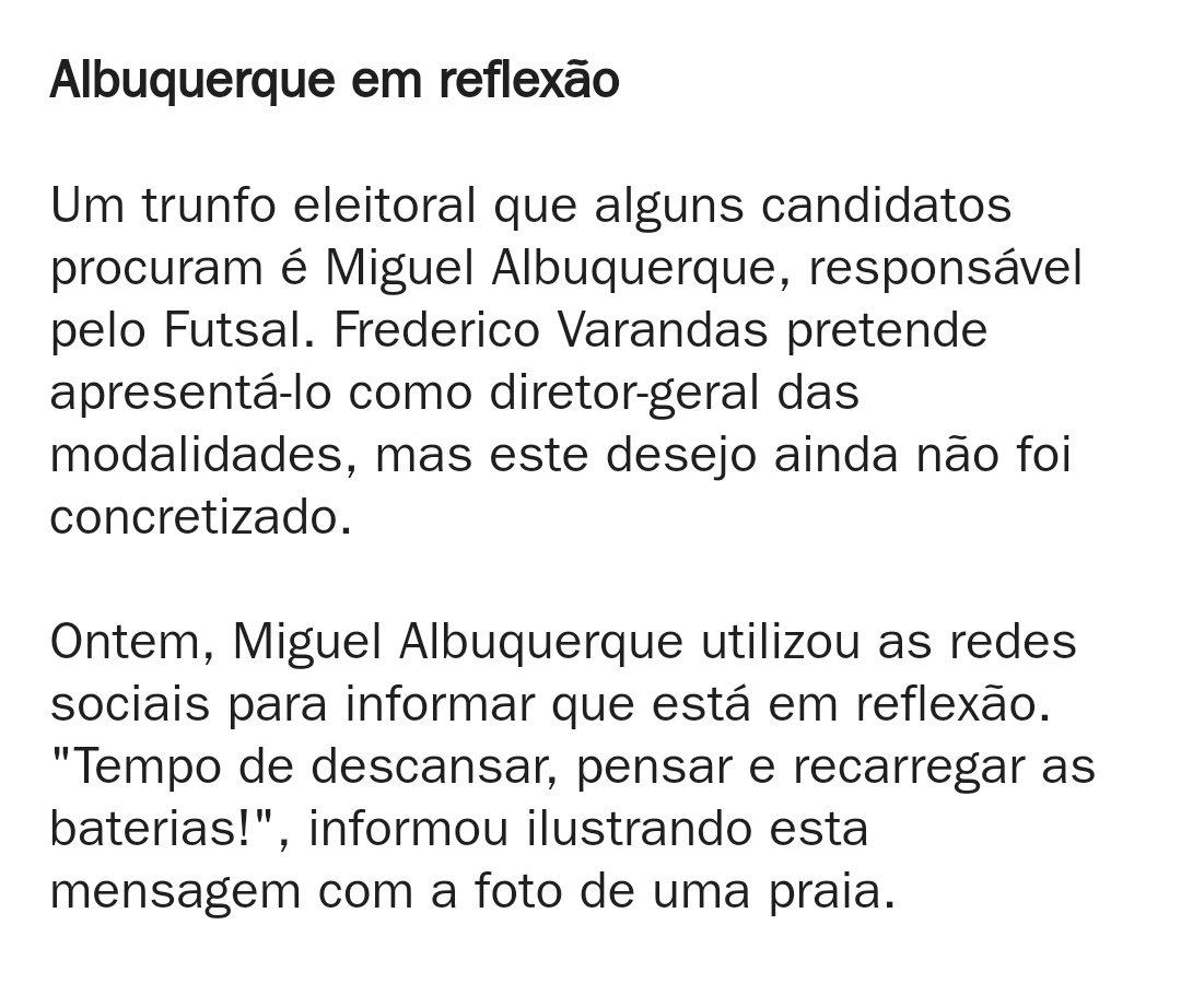 """""""Miguel Albuquerque em reflexão"""" #AvançaAlbuquerque"""