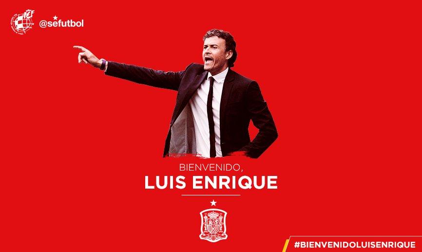 [공홈] 스페인 국가대표팀의 새 감독은 루이스 엔리케입니다.