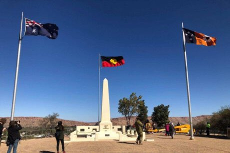 Alice Springs raises Aboriginal flag for the first time as #NAIDOC2018 celebrations get underway. via @abcnews Photo