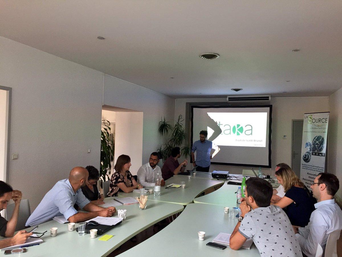 Cinq jours après le #BordeauxTechday l'#openinnovation continue avec notre partenaire @suezFR à #LaSource ! 8 #startup de la technopole sélectionnées pour #pitcher face aux équipes #projets 💧🤝