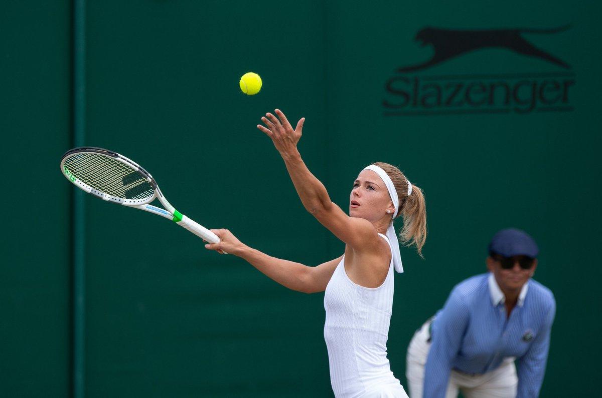 Welcome to the #Wimbledon  last eight club, Camila Giorgi   She beats Ekaterina Makarova 6-3, 6-4 to reach her first ever Grand Slam singles quarter-final  <br>http://pic.twitter.com/oVvDfqviXR
