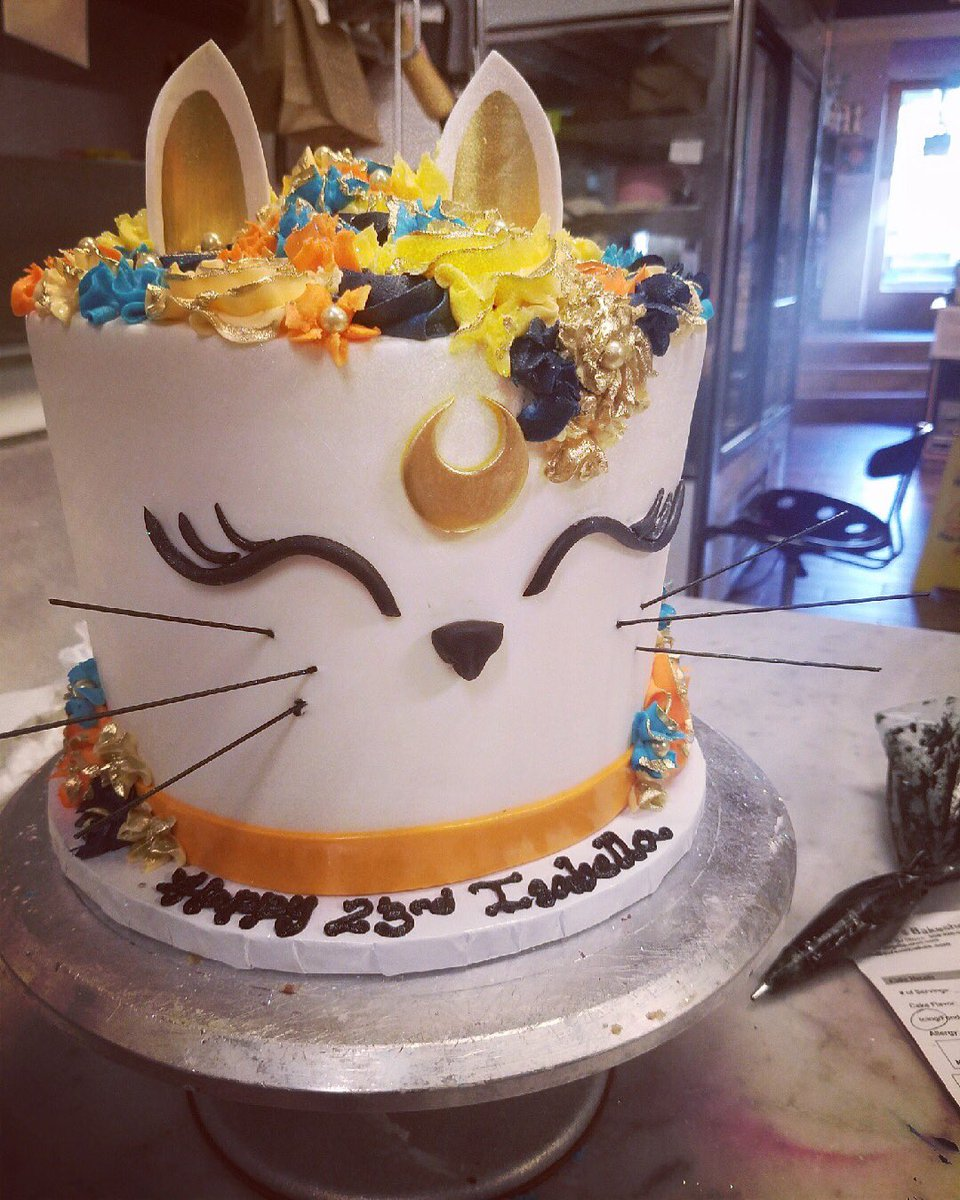 Outstanding Sweet Ts Bakeshop On Twitter Sailor Moon Themed Cat Cake With Personalised Birthday Cards Paralily Jamesorg