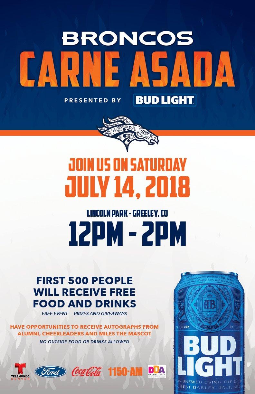 Broncos Carne Asada Greeley Twitter