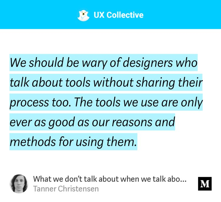 'What we don't talk about when we talk about design tools'-@tannerc uxdesign.cc/what-we-dont-t…