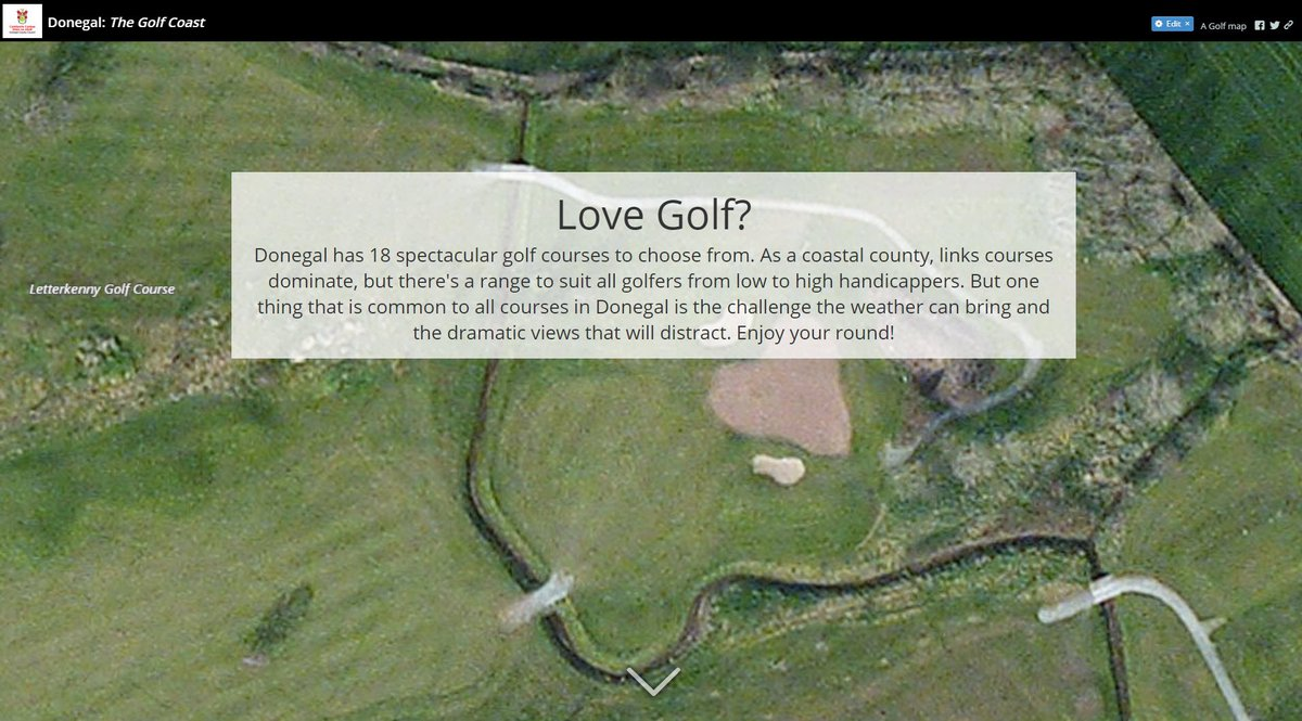 Donegal Golf Courses Map on
