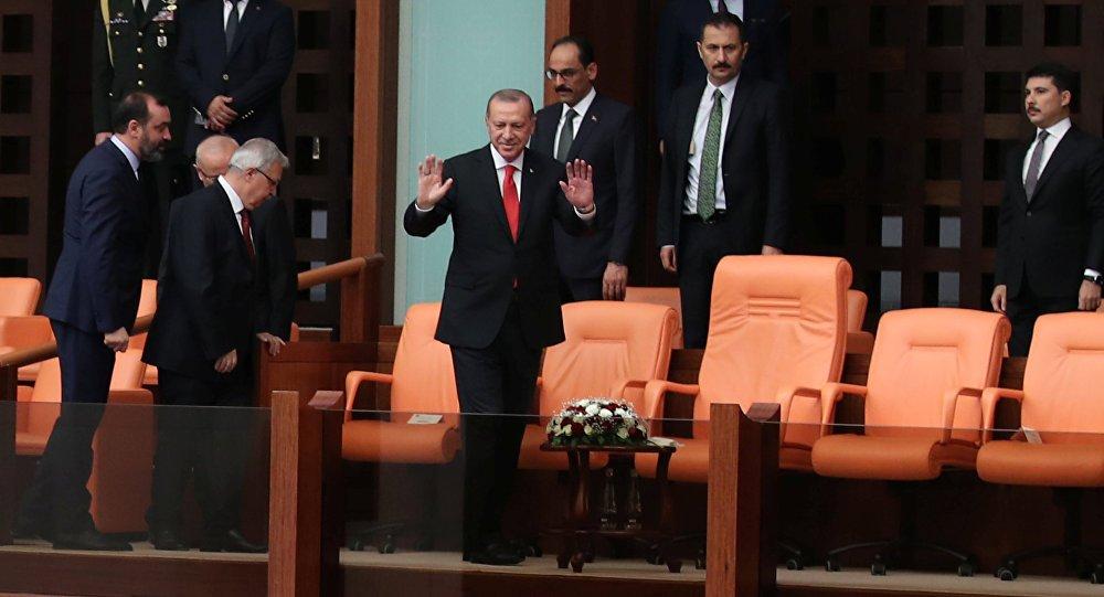 .@RT_Erdogan takes oath of presidential office ahead of #inauguration https://t.co/5dsLFoptBS #Turkey