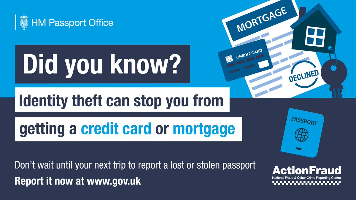 Uk Government Scotland On Twitter Identity Theft Can Stop You Getting A Credit Card Or Mortgage Don T Wait Until Your Next Trip To Report A Lost Or Stolen Passport Https T Co 34znyv77ix Lostandstolen Ukhomeoffice