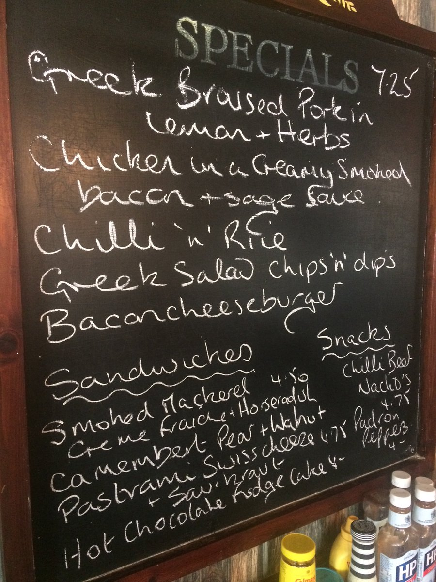 This weeks specials board. https://t.co/2M4r0HwIUJ