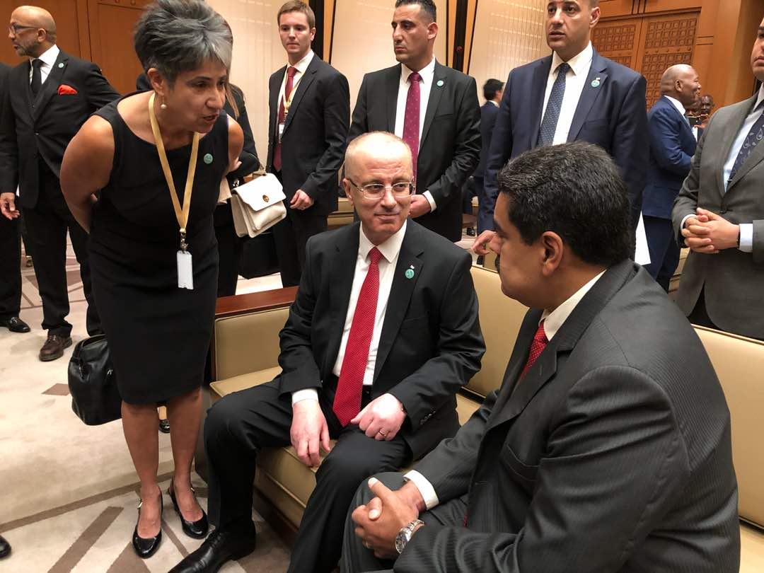 Presidente @NicolasMaduro sostiene encuentro bilateral con el Primer Ministro de Palestina, Rami Hamdallah https://t.co/lkbsU2rARa