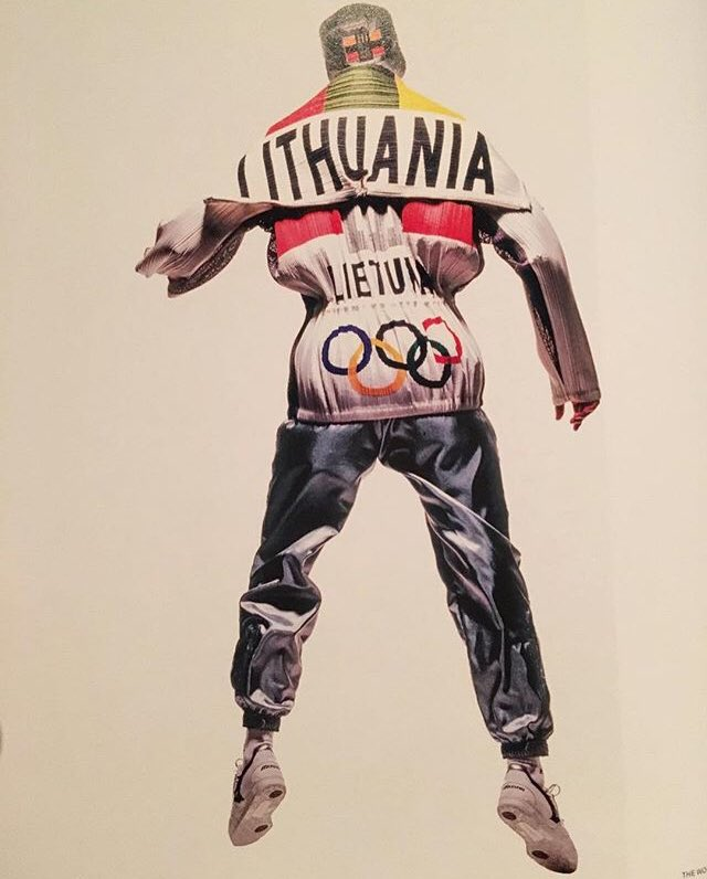 The Issey Miyake designed Barcelona Olympic uniforms for Lithuania. c., 1992.