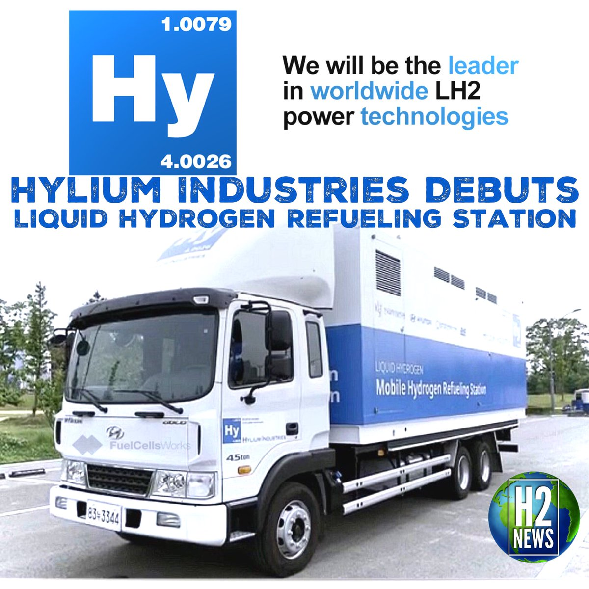 H2 Fuel Cell News On Twitter Please Welcome The Worlds First Freight Truck Pump 5 Ton Can Store Up To 7500 Liters Of Lh2 And 100 Cars Day 900bar Eliminates Need For